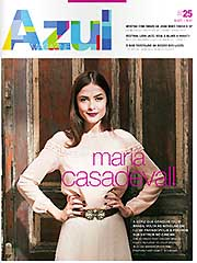 Revista de bordo Azul Magazine